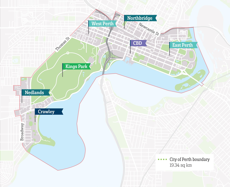 City of Perth Neighbourhood Maps