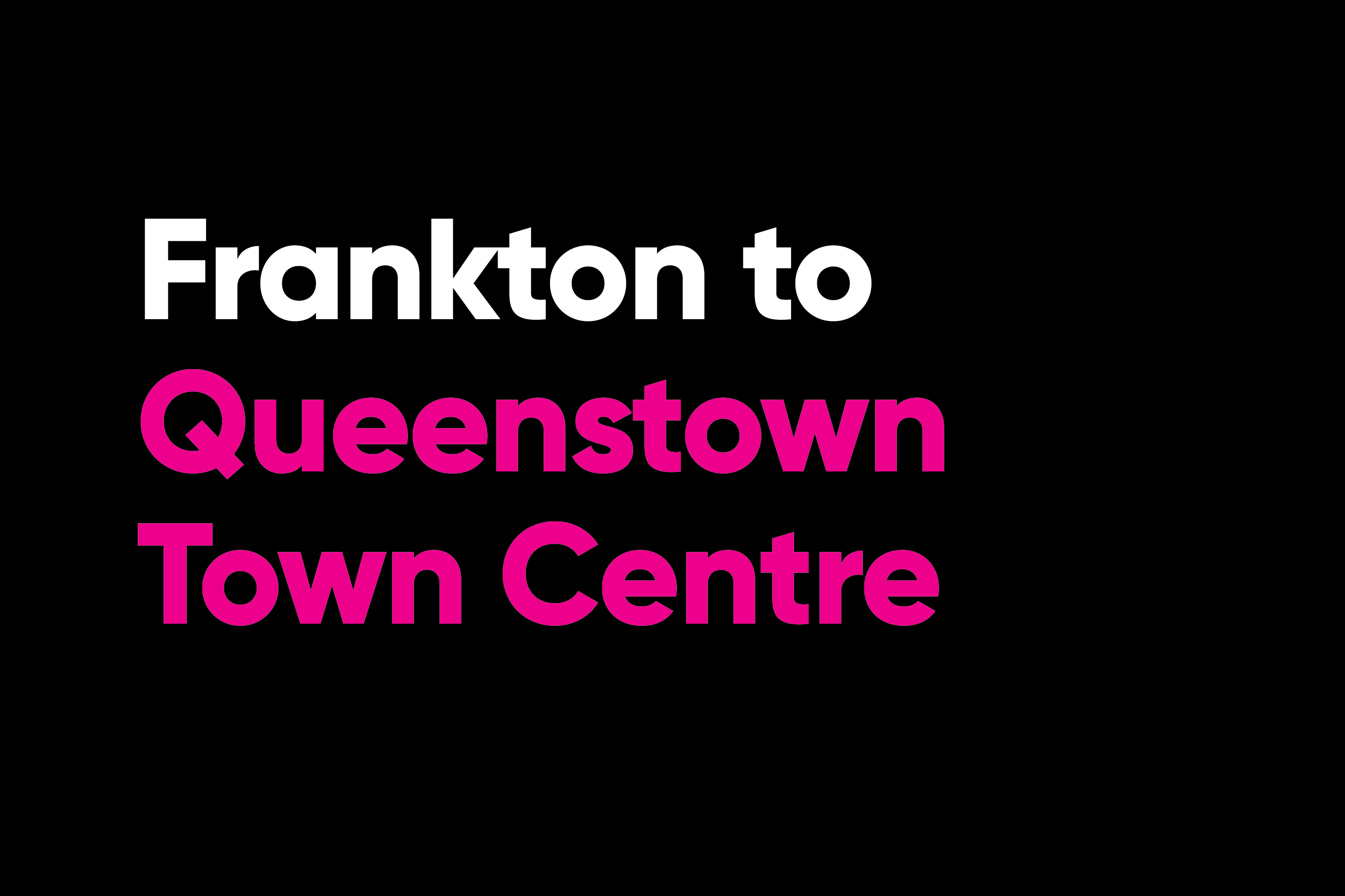 Frankton to queenstown town centre