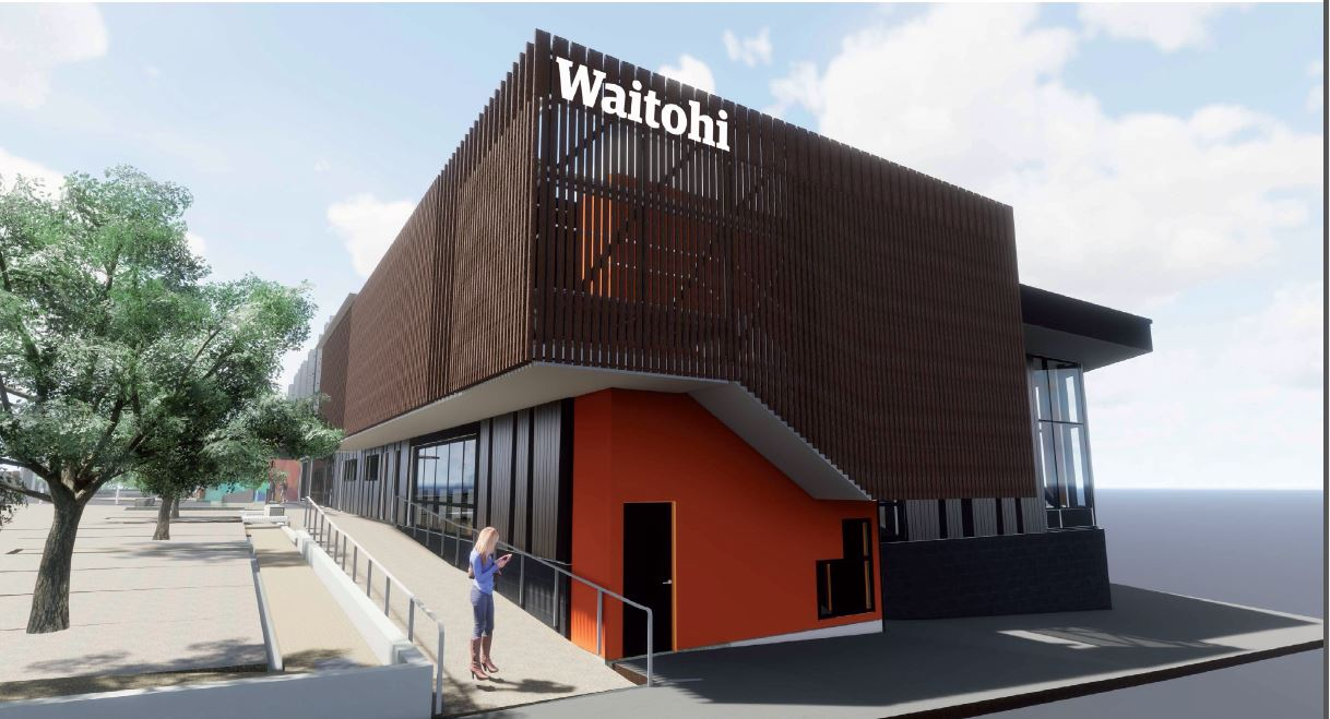 Concept drawing of Waitohi Community Hub