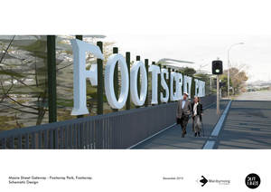 Footscray park signage   lettering