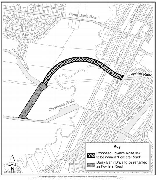 Fowlers and daisy bank map