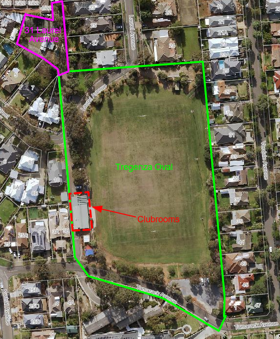 Proposed lease clubrooms on Tregenza Oval