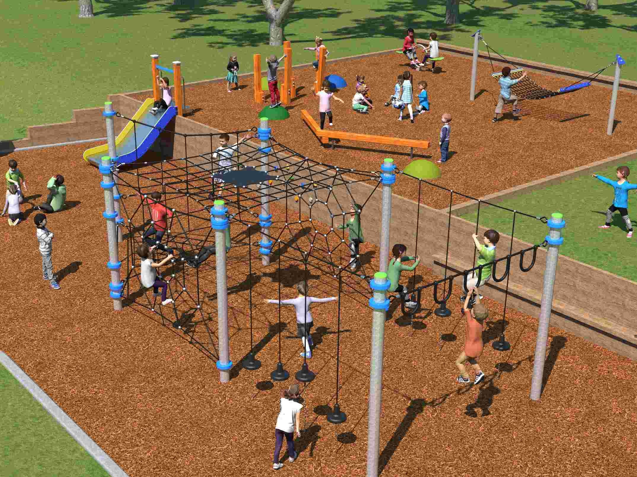 Children outdoor gym aw
