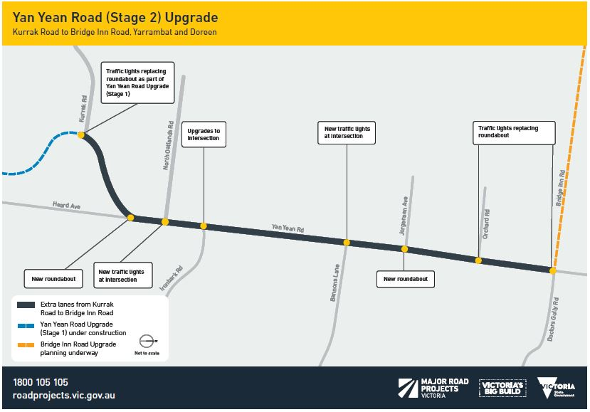 As part of the upgrade, we plan to: add an extra lane in each direction between Kurrak Road and Bridge Inn Road install new and upgrade existing intersections build a walking and cycling path install safety barriers along the road.