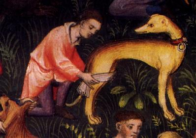 Image from The Book of the Hunt by Gaston Phoebus c1500