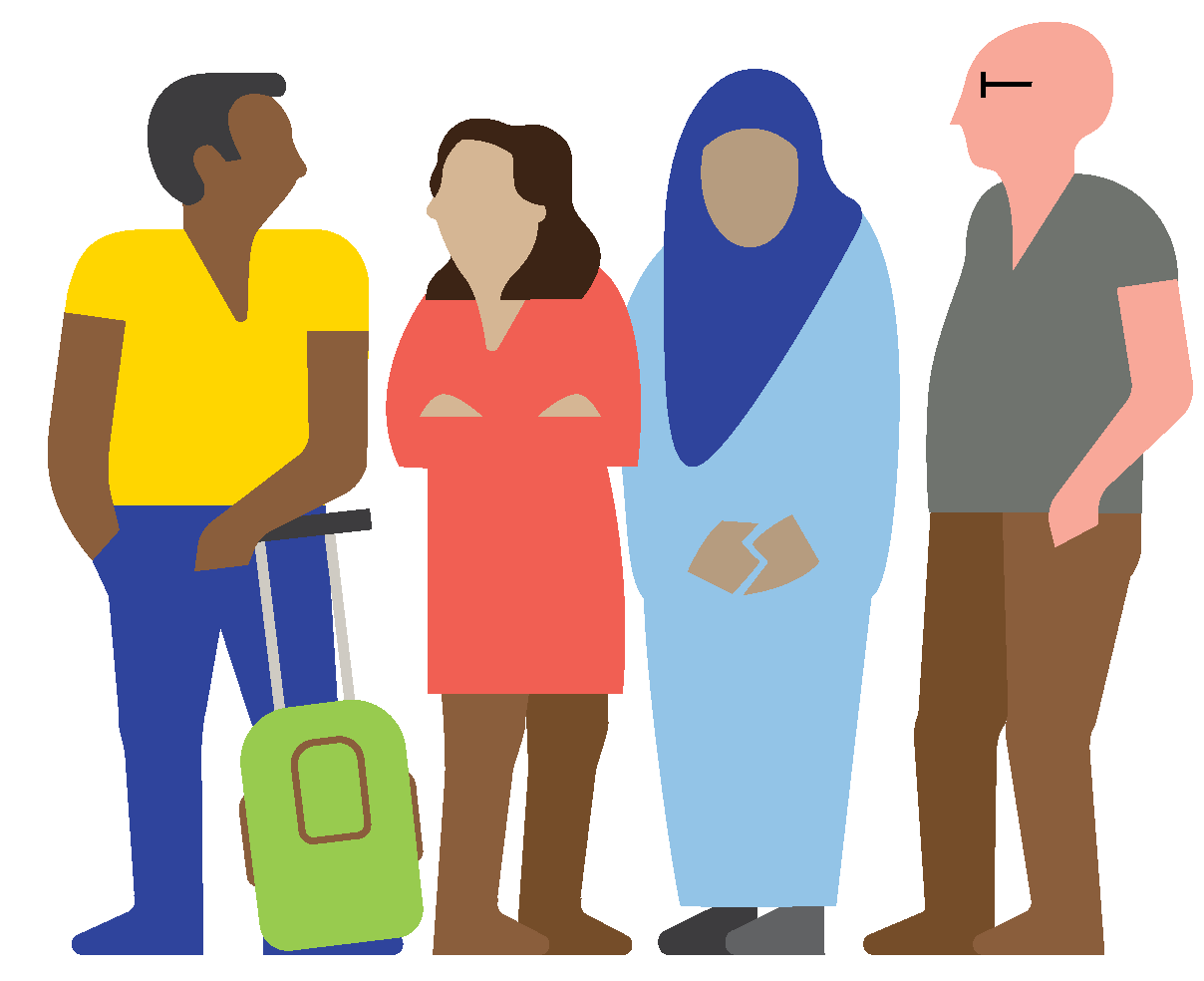 Illustration of a group of people depicting our diverse communities.