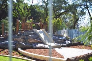 Subiaco   theatre gardens   playground   fencing slide   september 2014