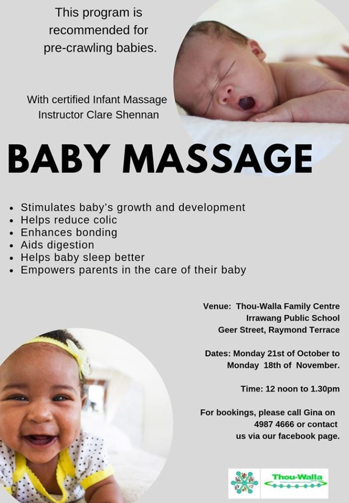 Baby massage at thou walla