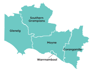 Map of the great south coast region