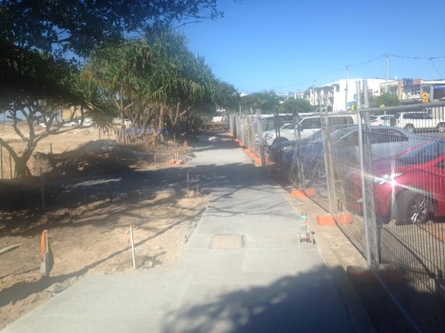 New marine parade footpath