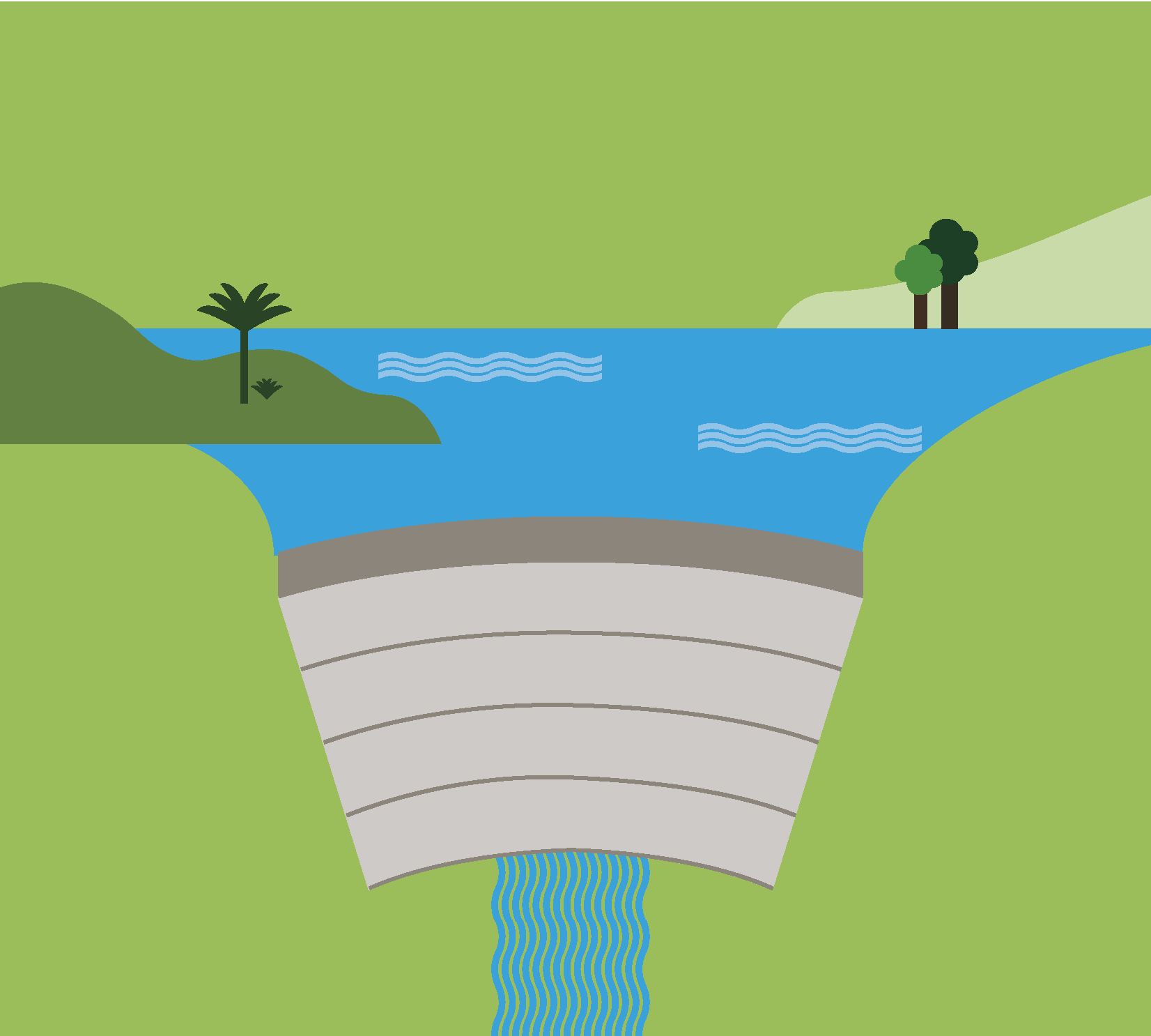Illustration of a dam.