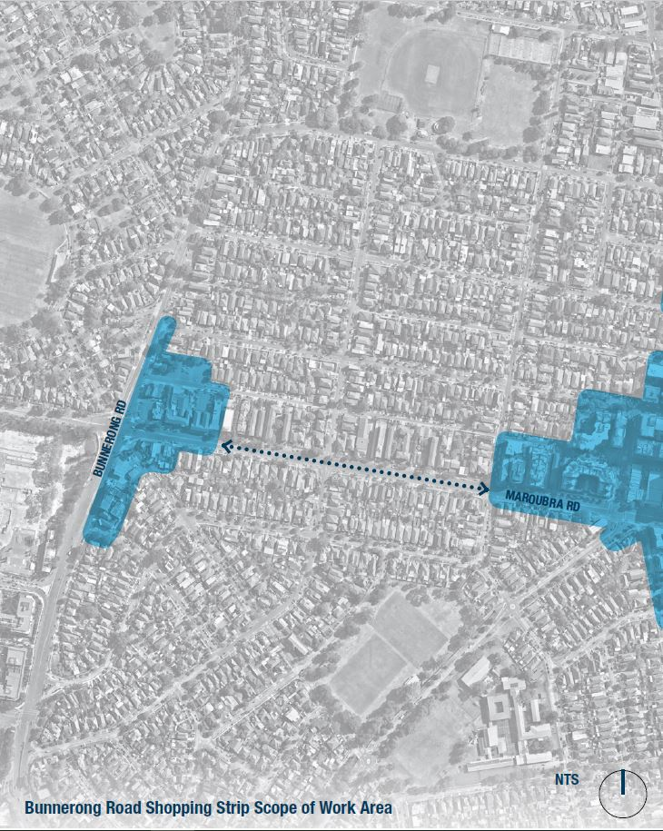 Map of Bunnerong Road focus area