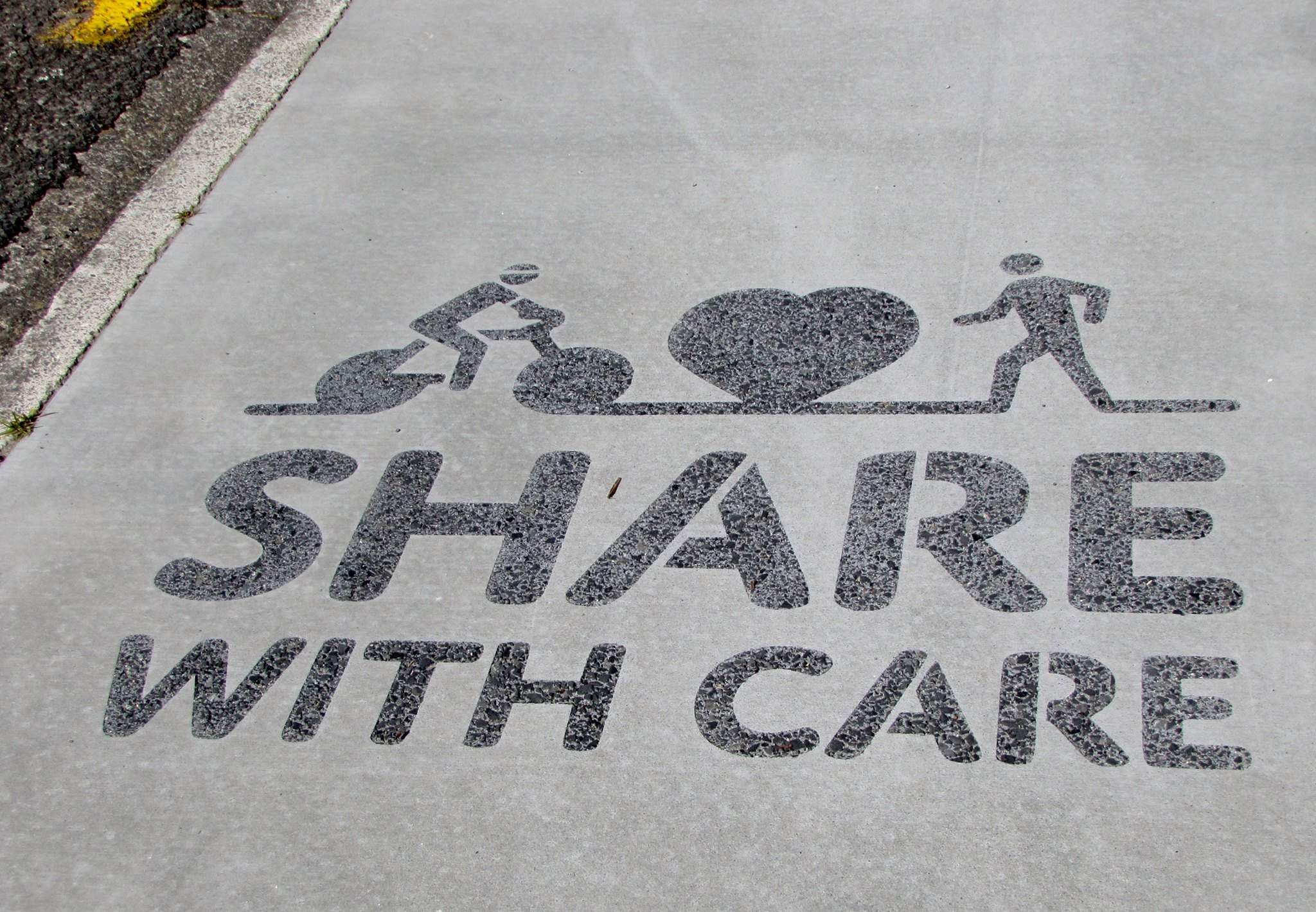 Share with care stencil photo