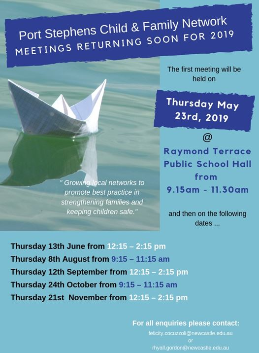 Port stephens child and family network meetings 2019