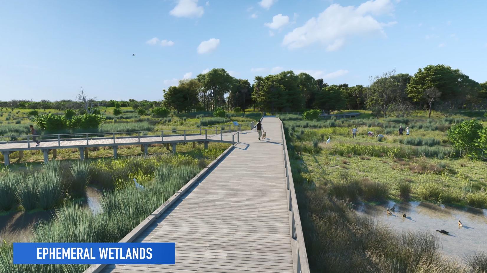 Ephemeral wetlands  boardwalk  community partnerships