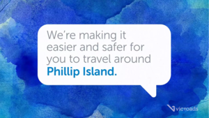 Screen shot of our phillip island road video