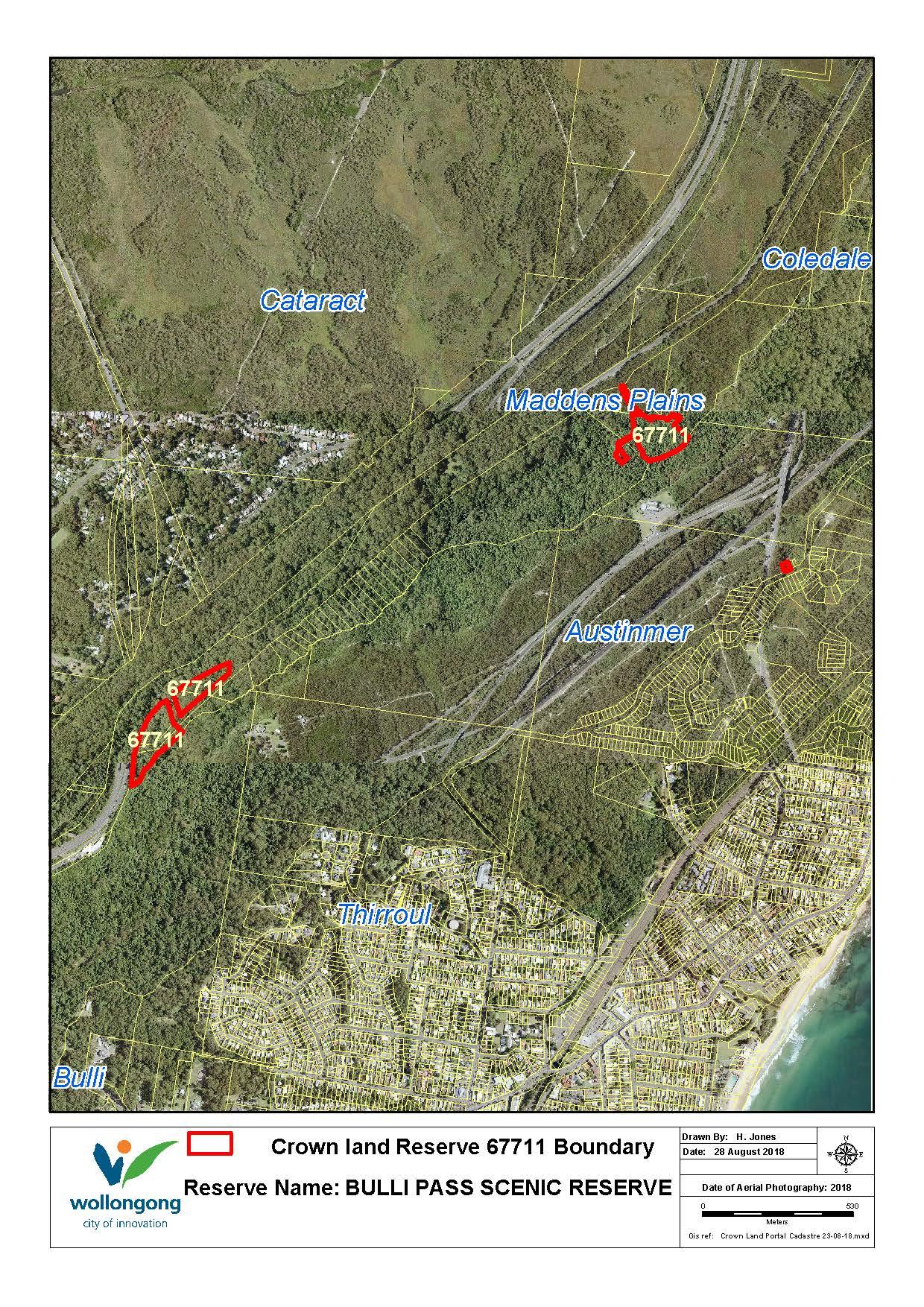 Bulli pass scenic reserve 67711 map z19 79944
