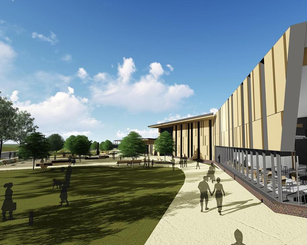 Artist impression of new Granville multi purpose centre