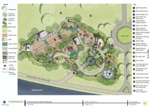 Footscray park playspace final concept plan