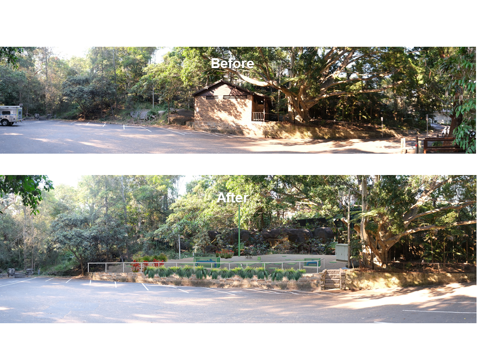 Artist impressions   parsley bay before and after