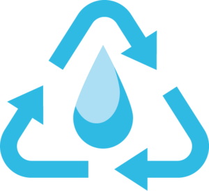 Recyled water symbol 2   blue