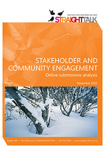 Stakeholder community online submissions cover