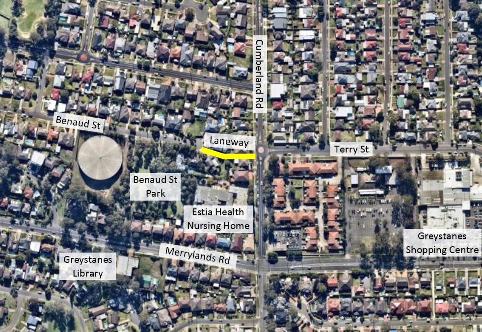 Benaud Laneway area map