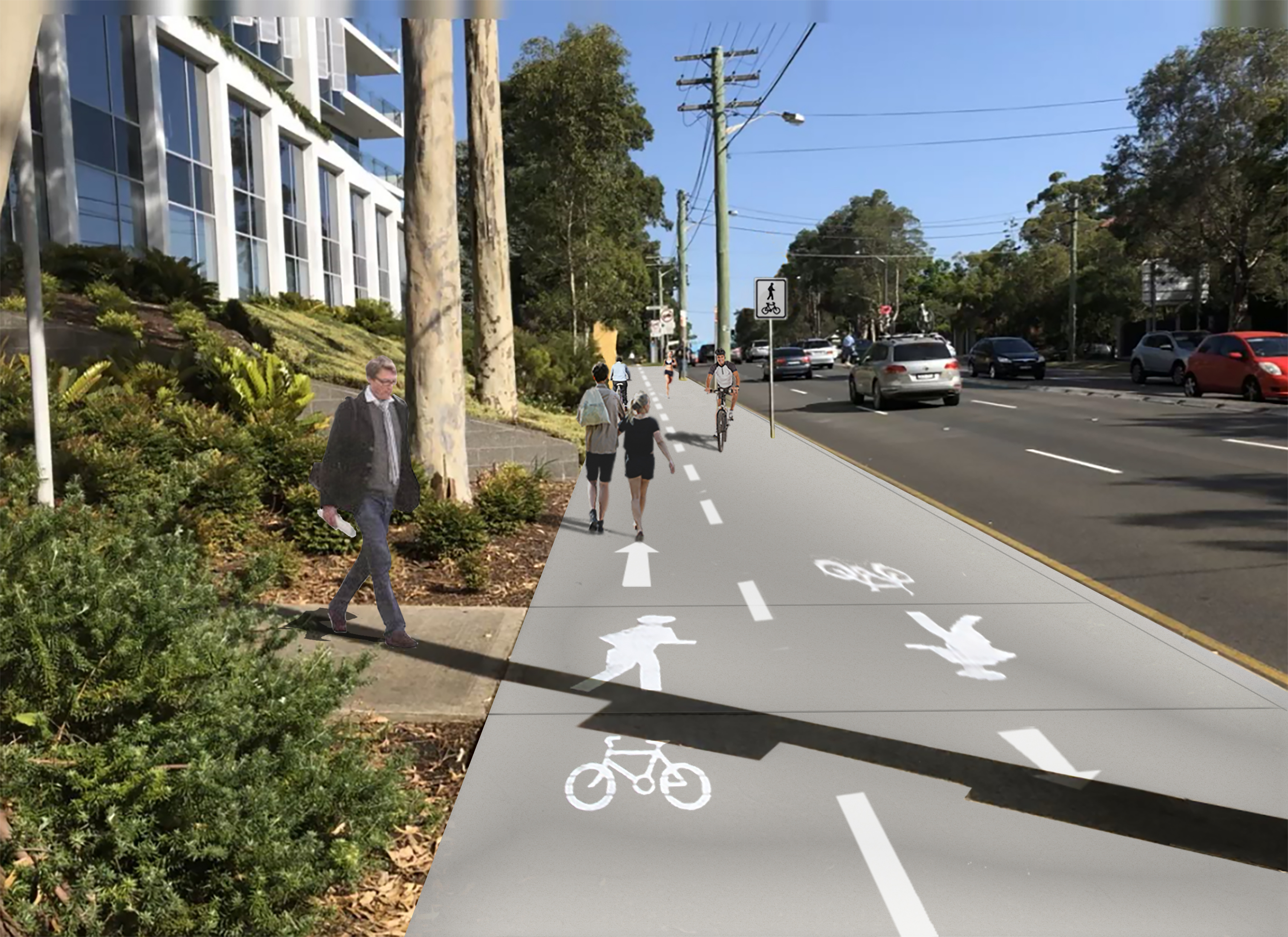 190415 3d pacific hwy shared path