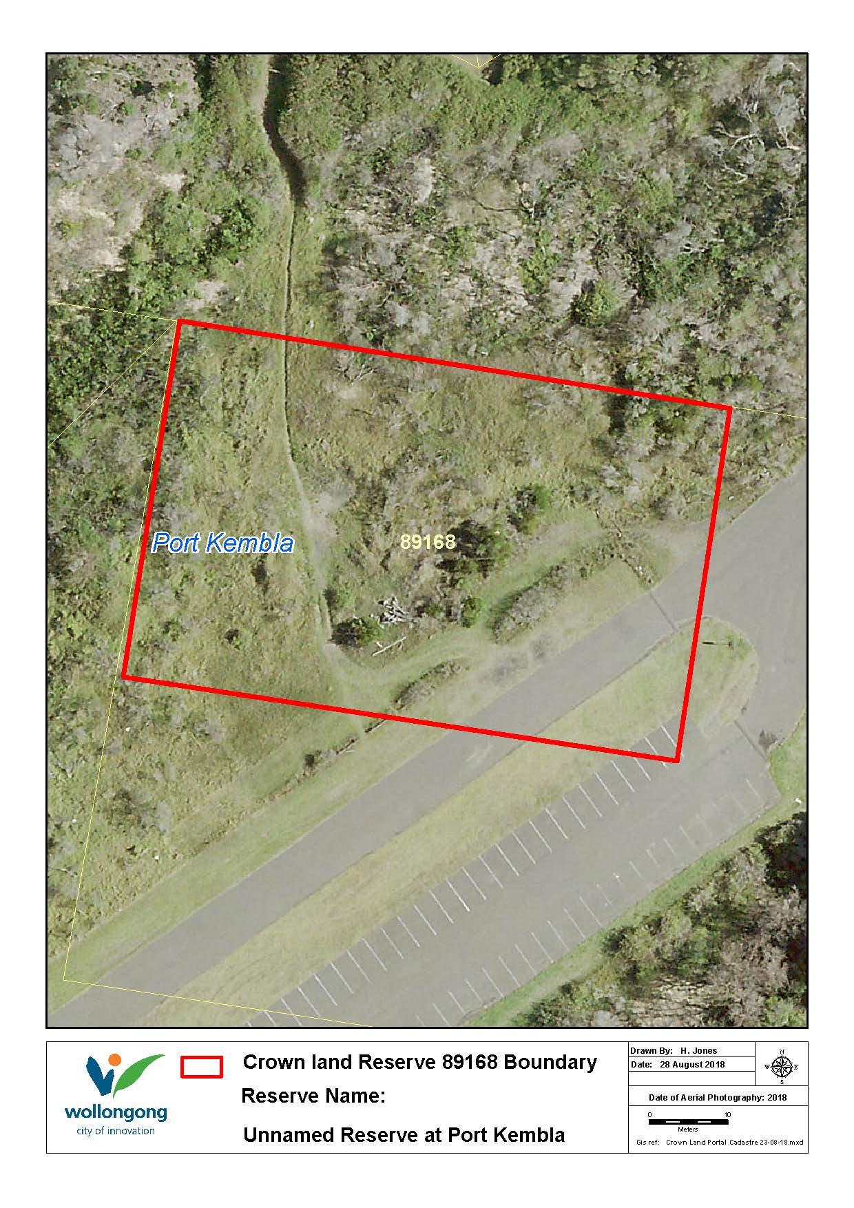 Unnamed reserve 89168 at port kembla map z19 91108