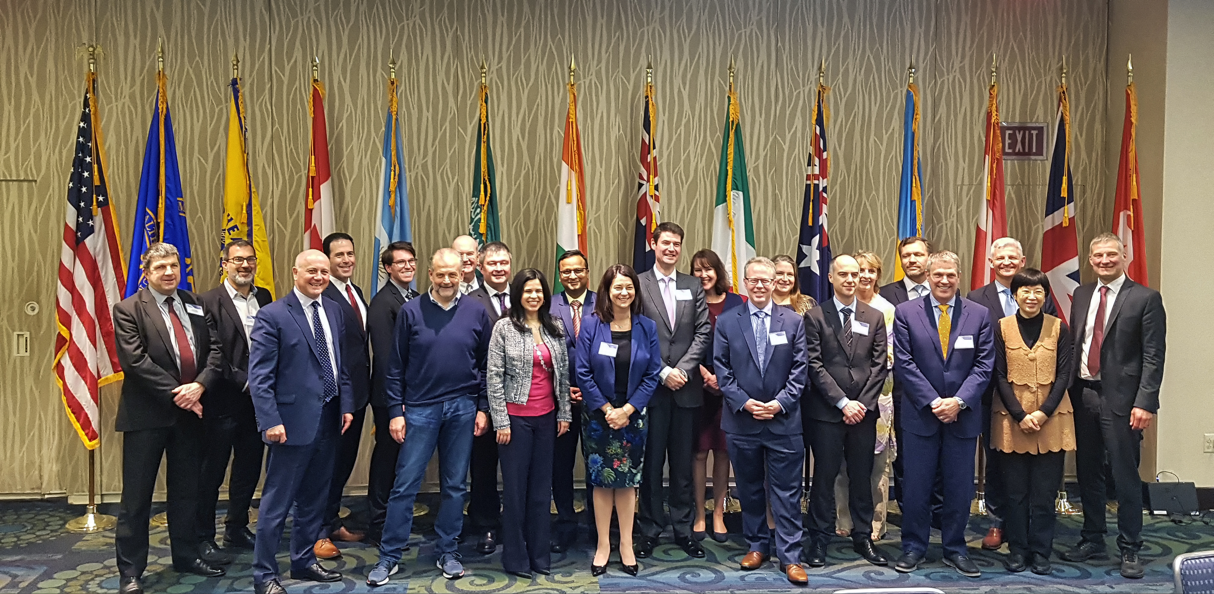 Australian Digital Health Agency CEO Tim Kelsey and Chief Medical Adviser Meredith Makeham with participants at the second Global Digital Health Partnership (GDHP) Summit 2018 in Washington DC