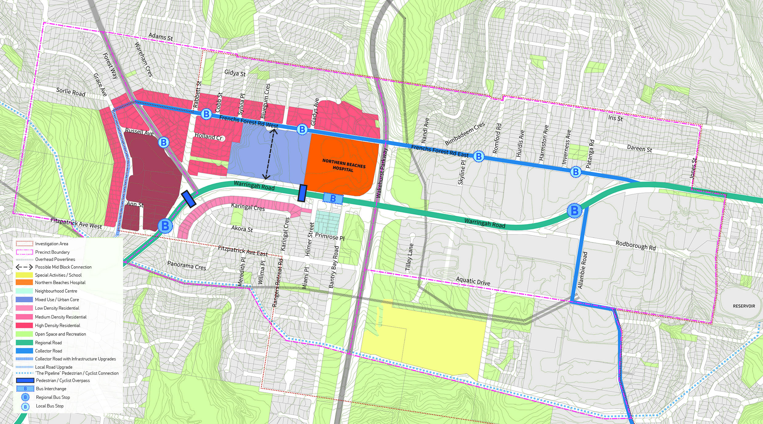 Hospital Precinct Structure Plan Frenchs Forest Your Say - Special report us precinct map