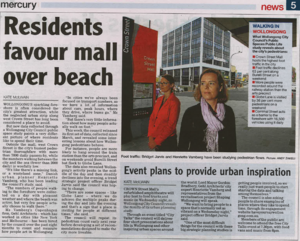 Residents favour mall over beach