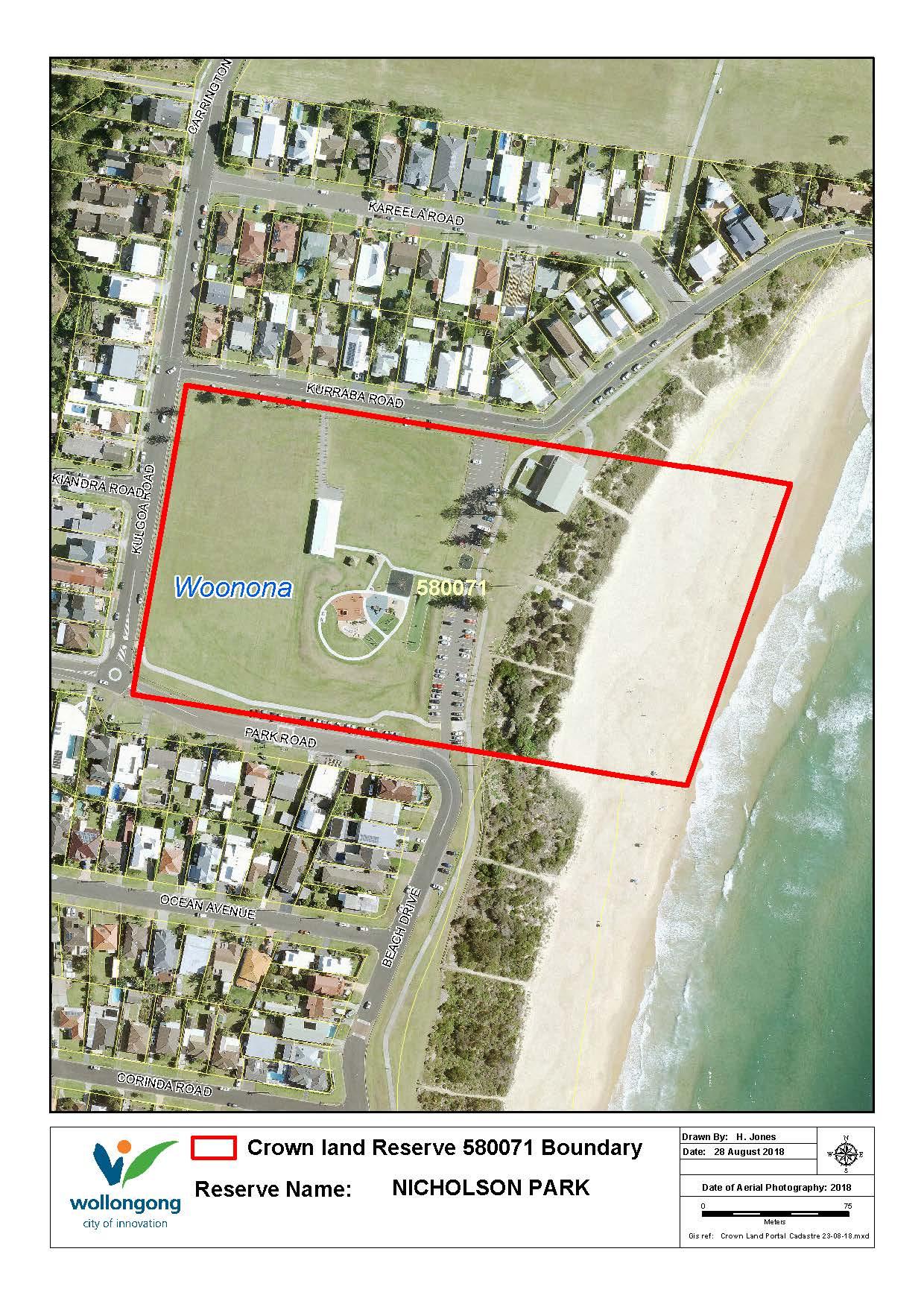 Nicholson park reserve 580071 map z19 91611