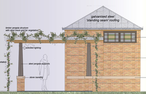 New toilet block drawing side view