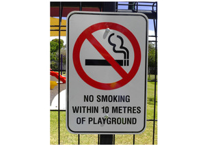 No smoking sign for playgrounds