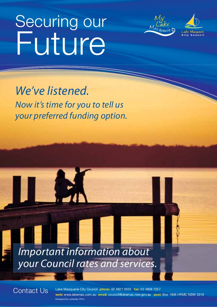 Securing our future important information about your council rates and services 1 728