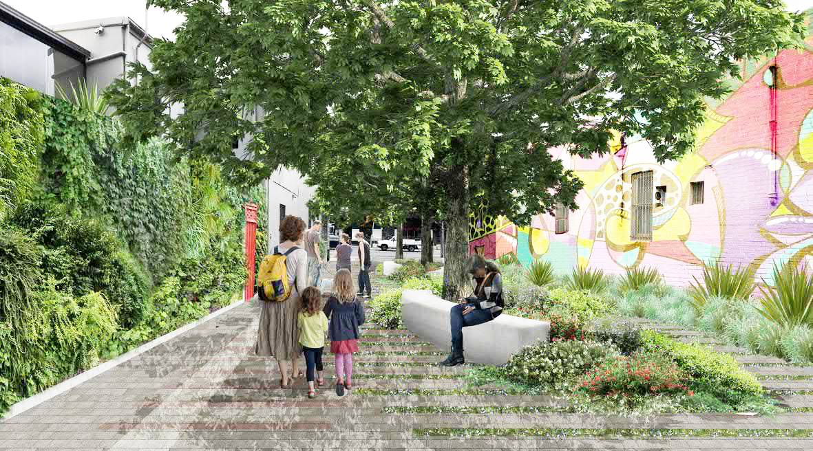 Petersham st plaza artist impression light