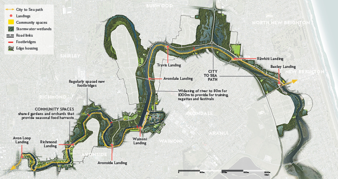 A detailed graphic of the Green Spine area