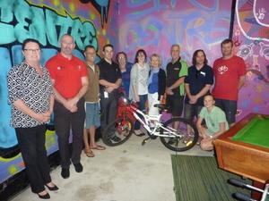 Wheels for hope  bike presentation group