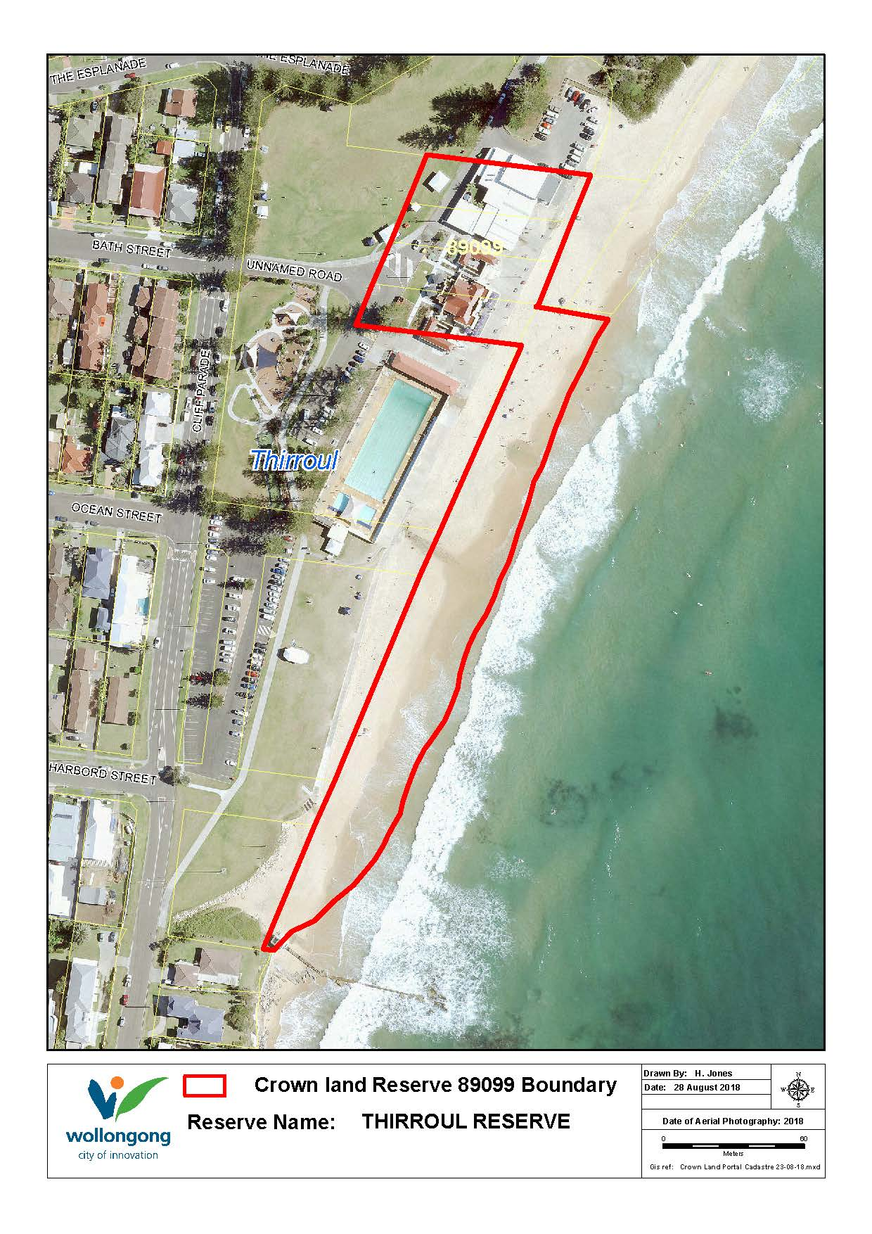 Thirroul reserve 89099 map z19 91138
