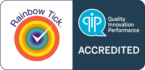 Qip   rainbow tick accredited symbol   jpeg