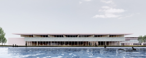 Community and receation hub exterior from 50m pool