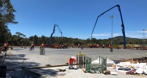Warriewood car park construction