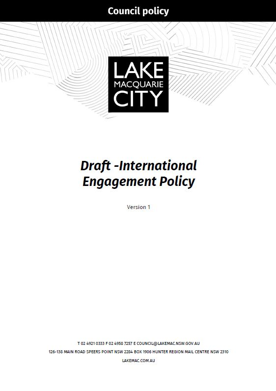 Draft International Engagement Policy