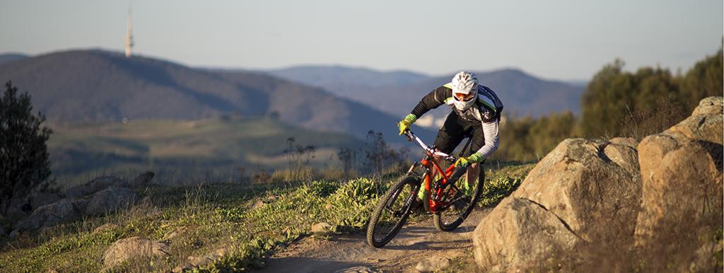 Mountain biking on Stromlo Forest