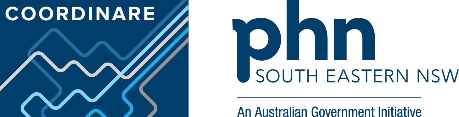 Image of the COORDINARE - South Eastern NSW PHN logo
