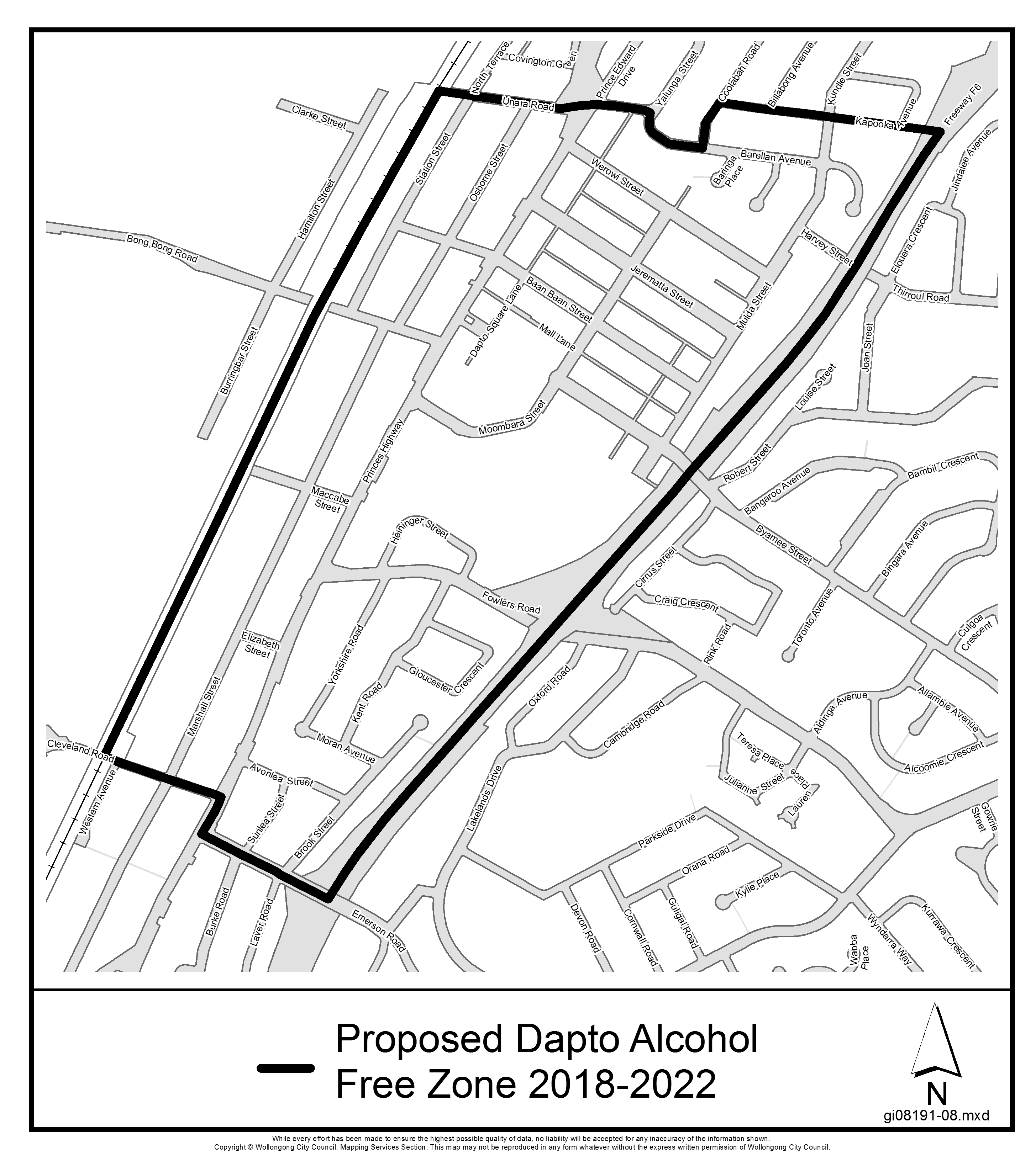 Proposed dapto alcohol free zone 2018 2022