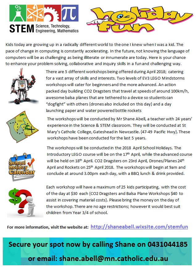 School Holiday Stem Science Robotics Workshops For Kids Mylink