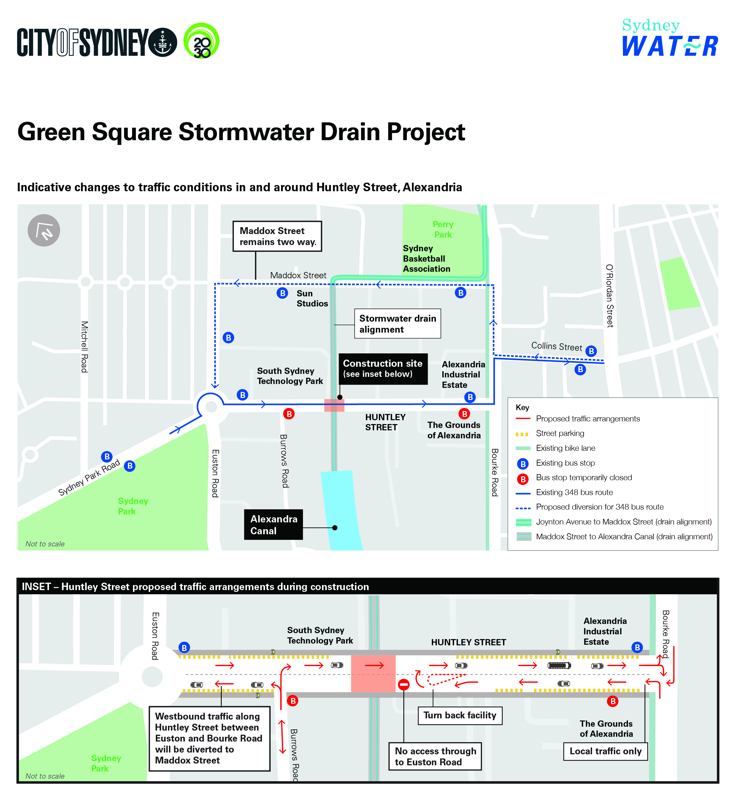 Huntley street traffic changes infographic final