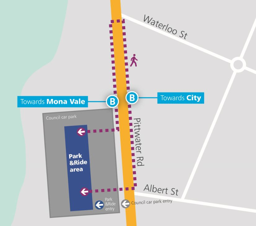 Narrabeen Park&Ride Map